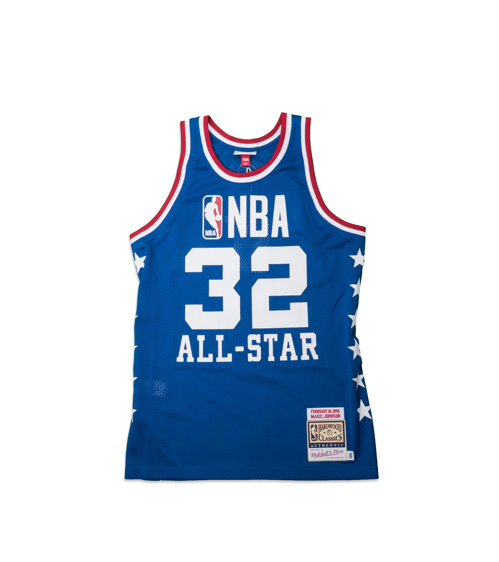 """West All Star Game '85 M. Johnson Authentic Jersey """"Royal""""-1"""