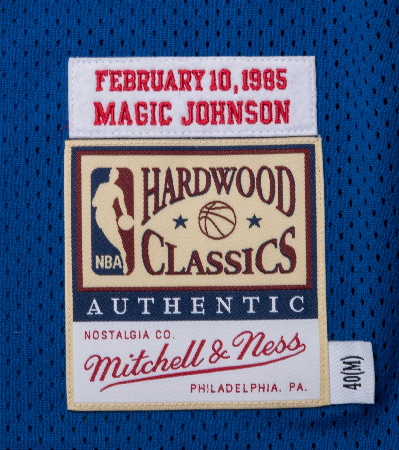 """West All Star Game '85 M. Johnson Authentic Jersey """"Royal""""-3"""