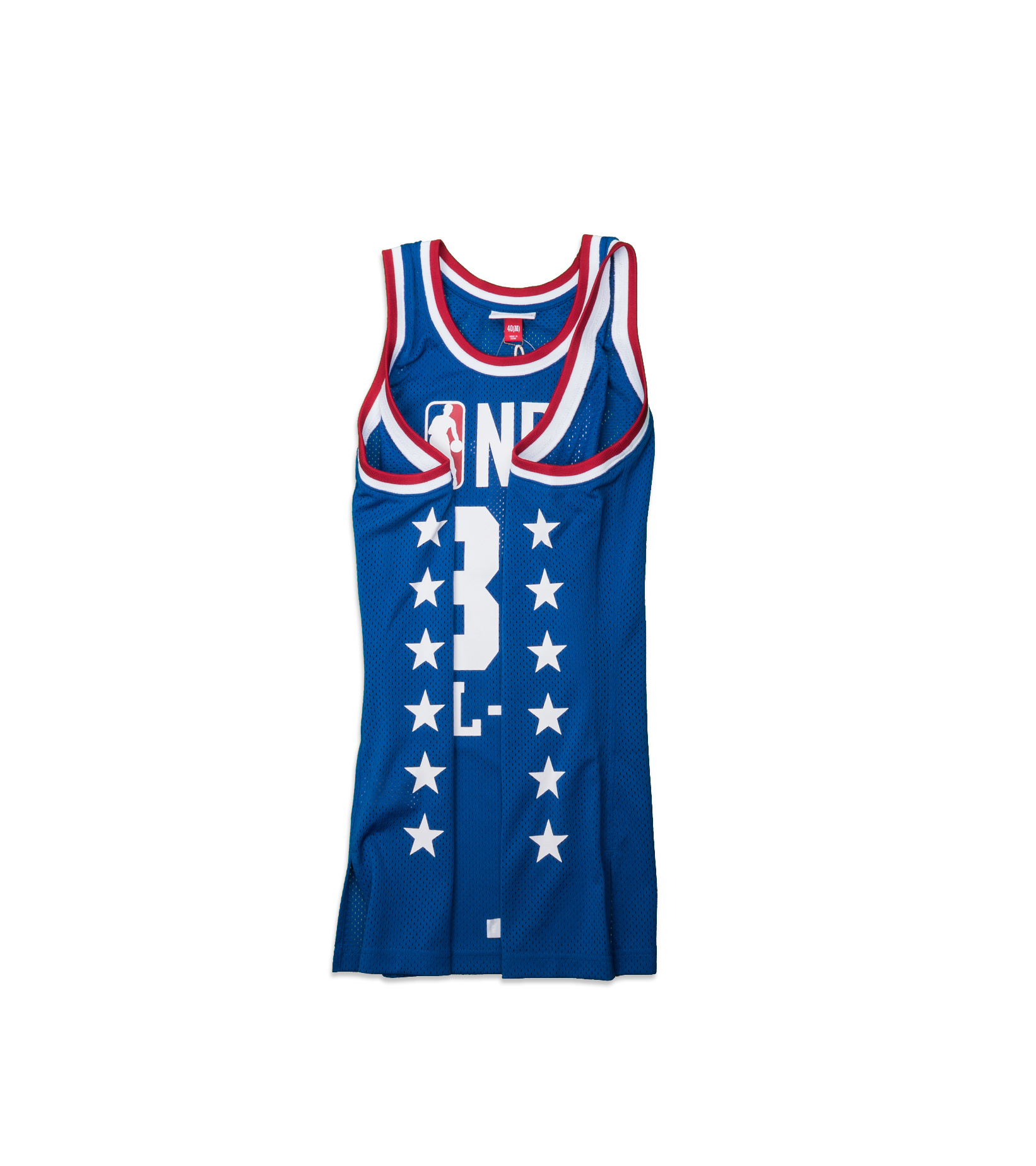 """West All Star Game '85 M. Johnson Authentic Jersey """"Royal""""-4"""