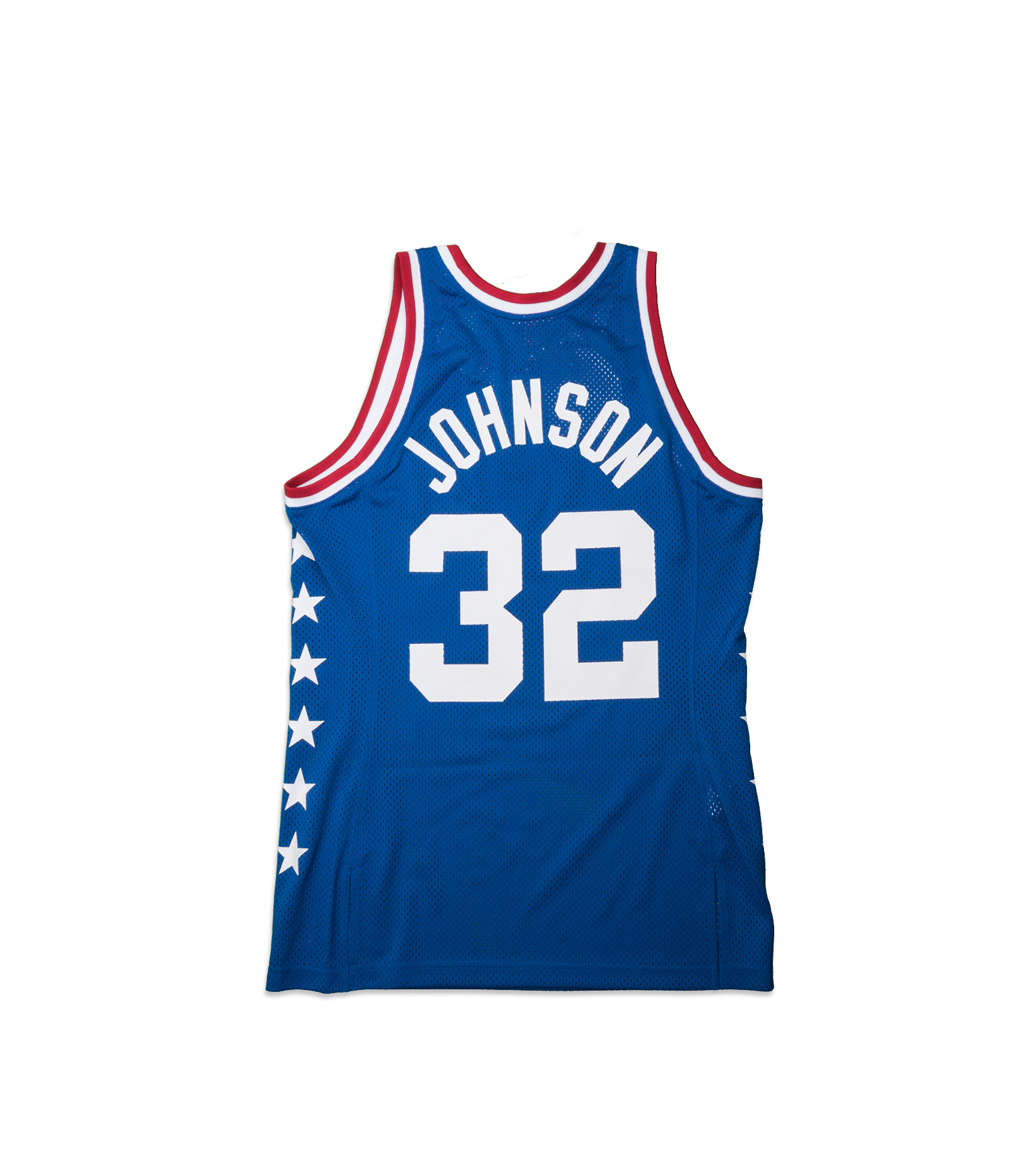 """West All Star Game '85 M. Johnson Authentic Jersey """"Royal""""-5"""