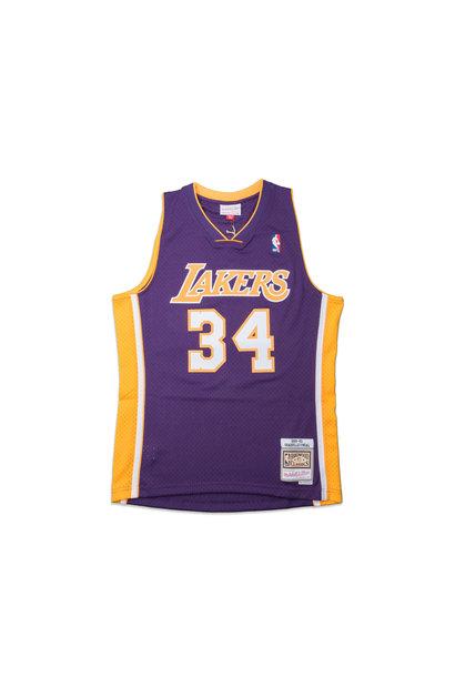 """LA Lakers '99-'00 S. O'Neal Swingman Jersey """"Purple"""""""