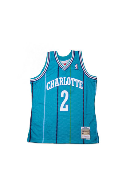 "Charlotte Hornets '92-'93 L. Johnson Swingman Jersey ""Teal"""