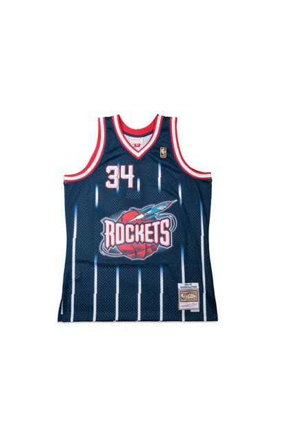 "Houston Rockets '96-'97 H. Olajuwon Swingman Jersey ""Navy"""