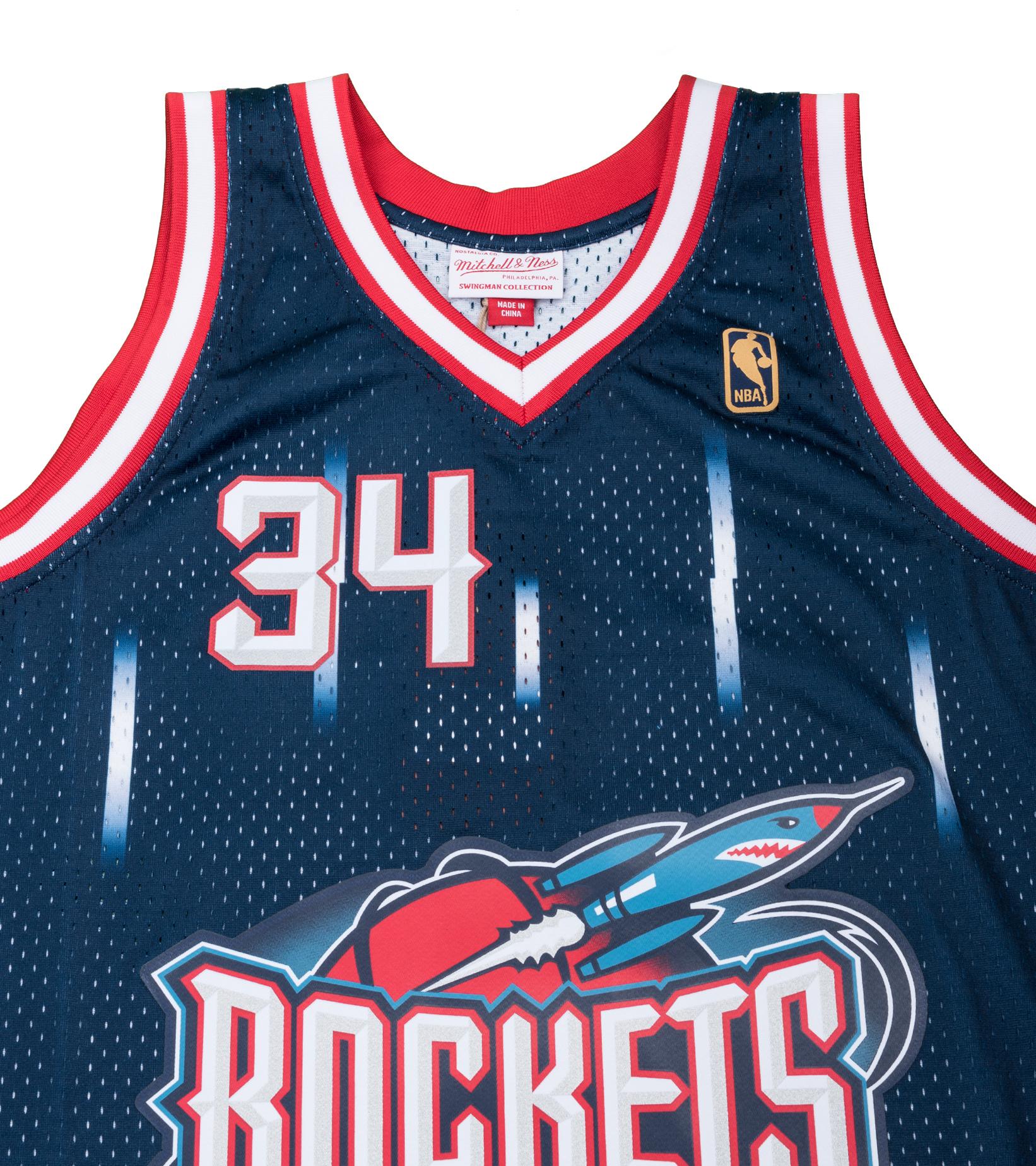 "Houston Rockets '96-'97 H. Olajuwon Swingman Jersey ""Navy""-2"