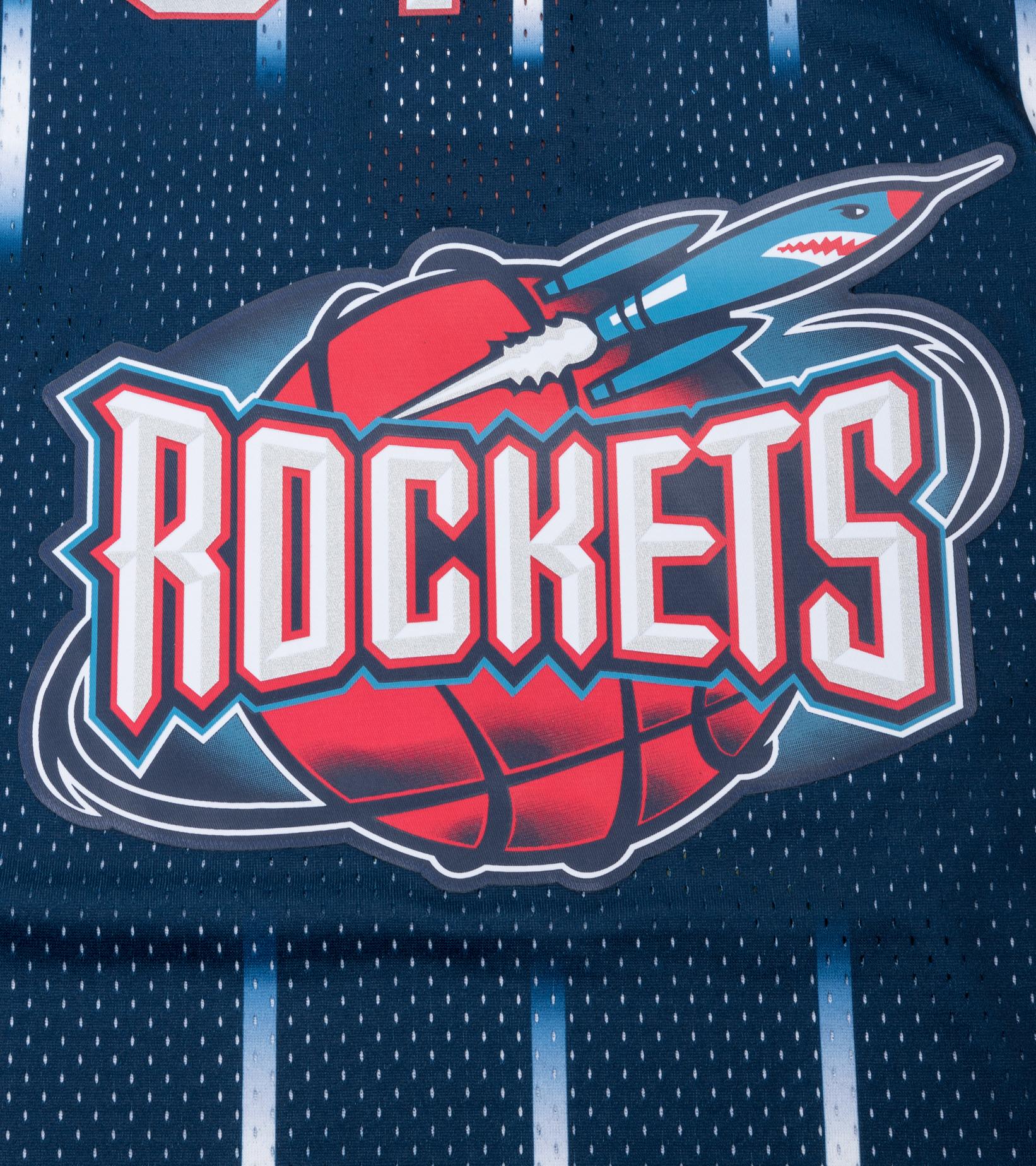 "Houston Rockets '96-'97 H. Olajuwon Swingman Jersey ""Navy""-3"