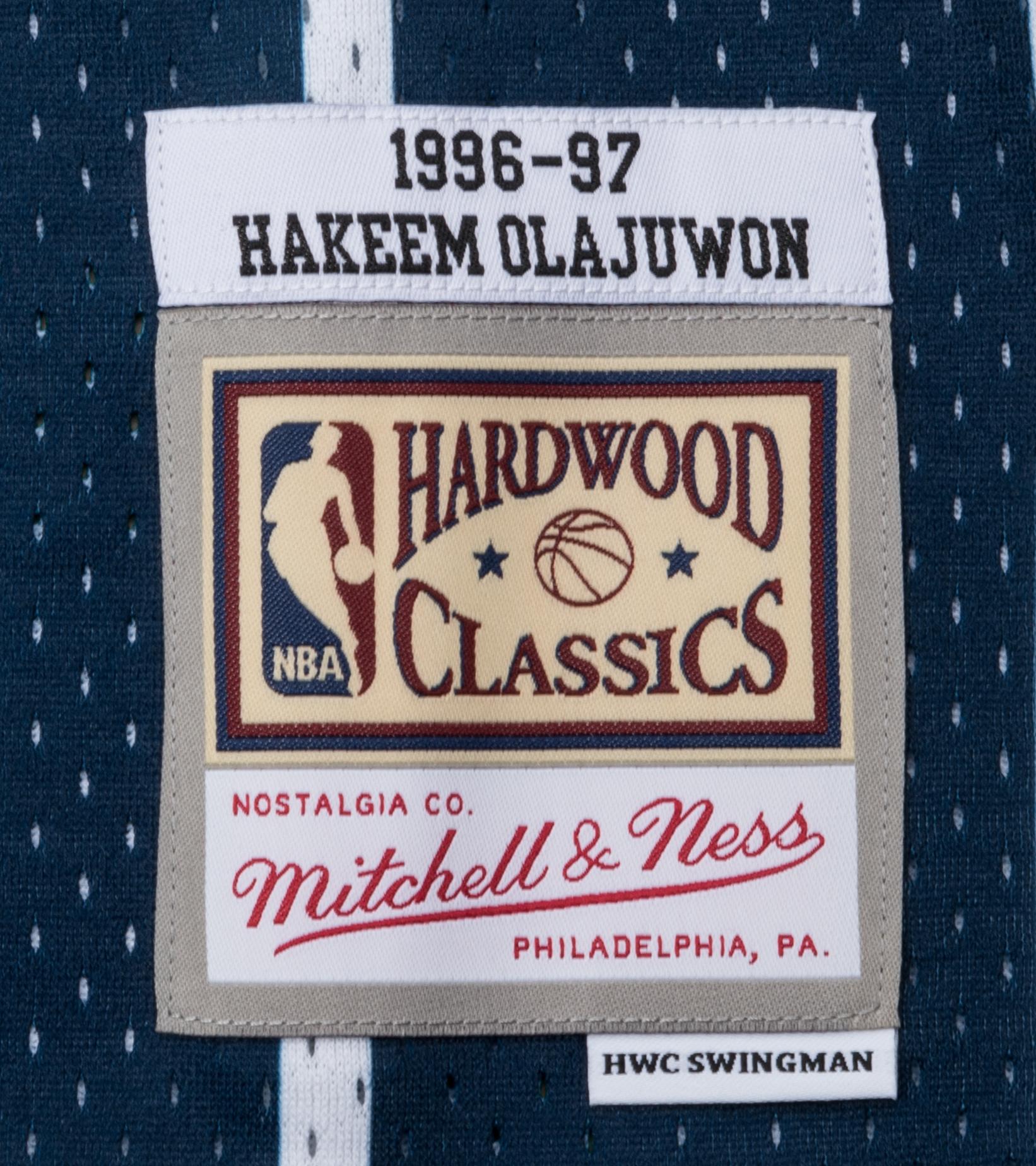 "Houston Rockets '96-'97 H. Olajuwon Swingman Jersey ""Navy""-4"