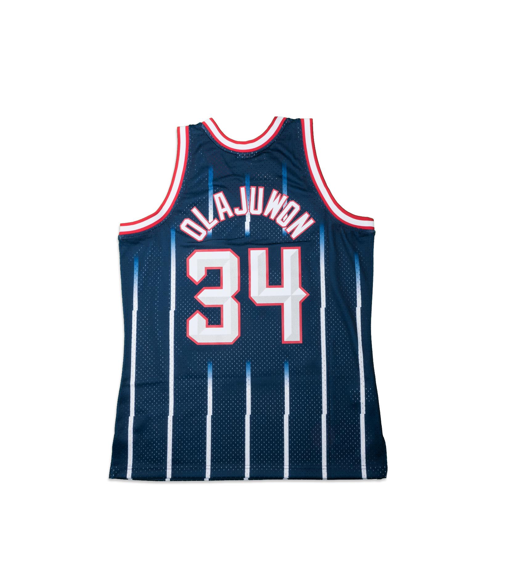 "Houston Rockets '96-'97 H. Olajuwon Swingman Jersey ""Navy""-5"