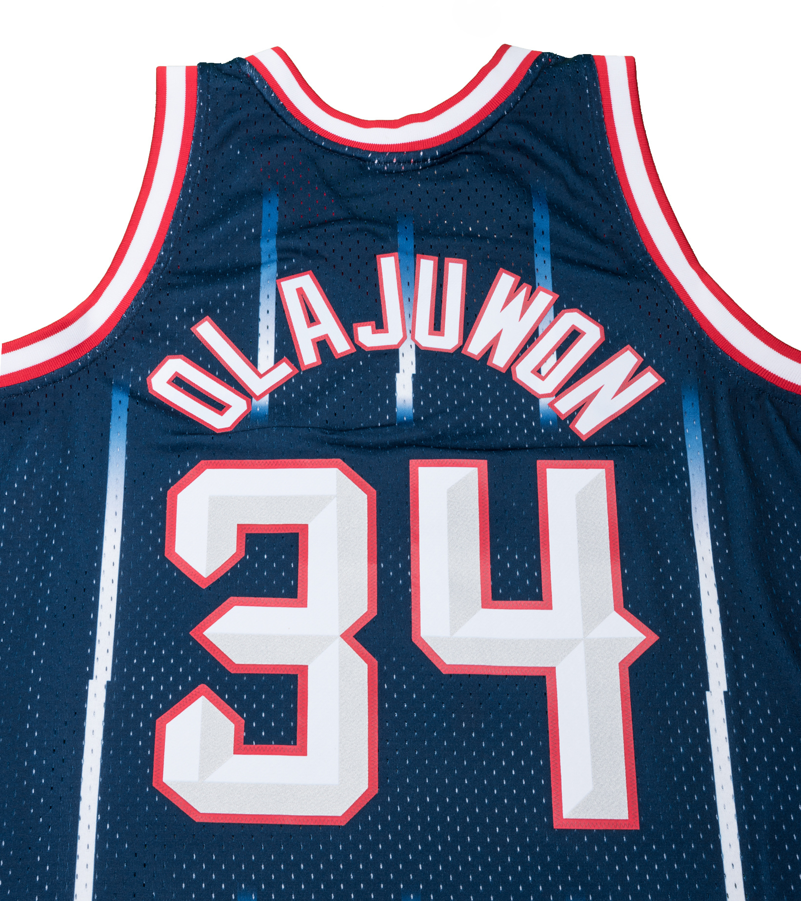 "Houston Rockets '96-'97 H. Olajuwon Swingman Jersey ""Navy""-6"