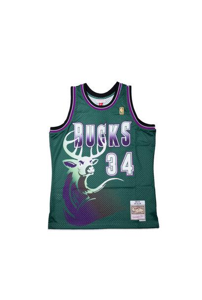 "Milwaukee Bucks '96-'97 R. Allen Swingman Jersey ""Dark Green"""