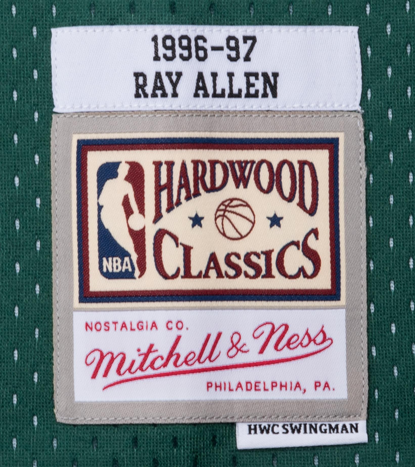 "Milwaukee Bucks '96-'97 R. Allen Swingman Jersey ""Dark Green""-4"