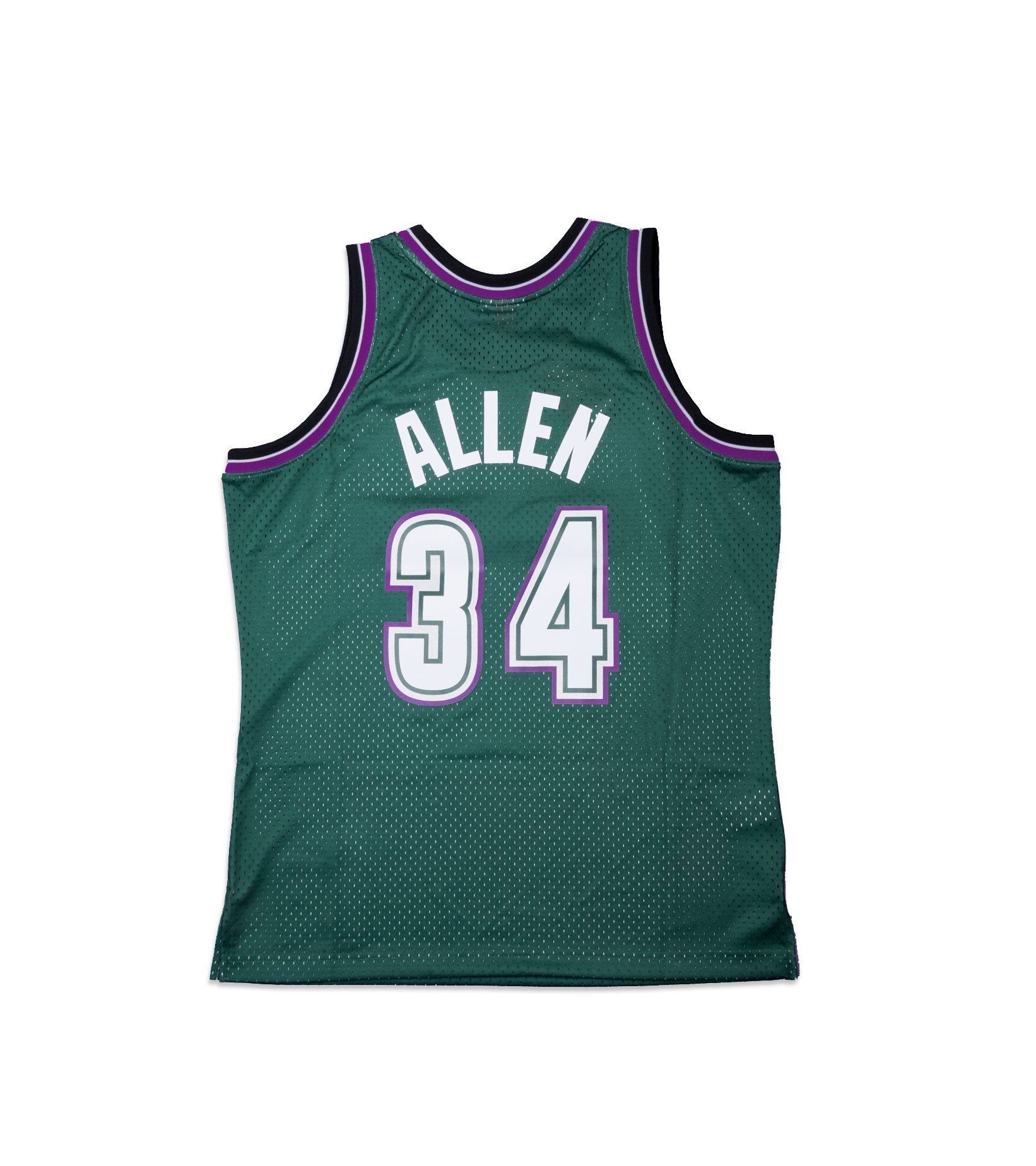 "Milwaukee Bucks '96-'97 R. Allen Swingman Jersey ""Dark Green""-5"