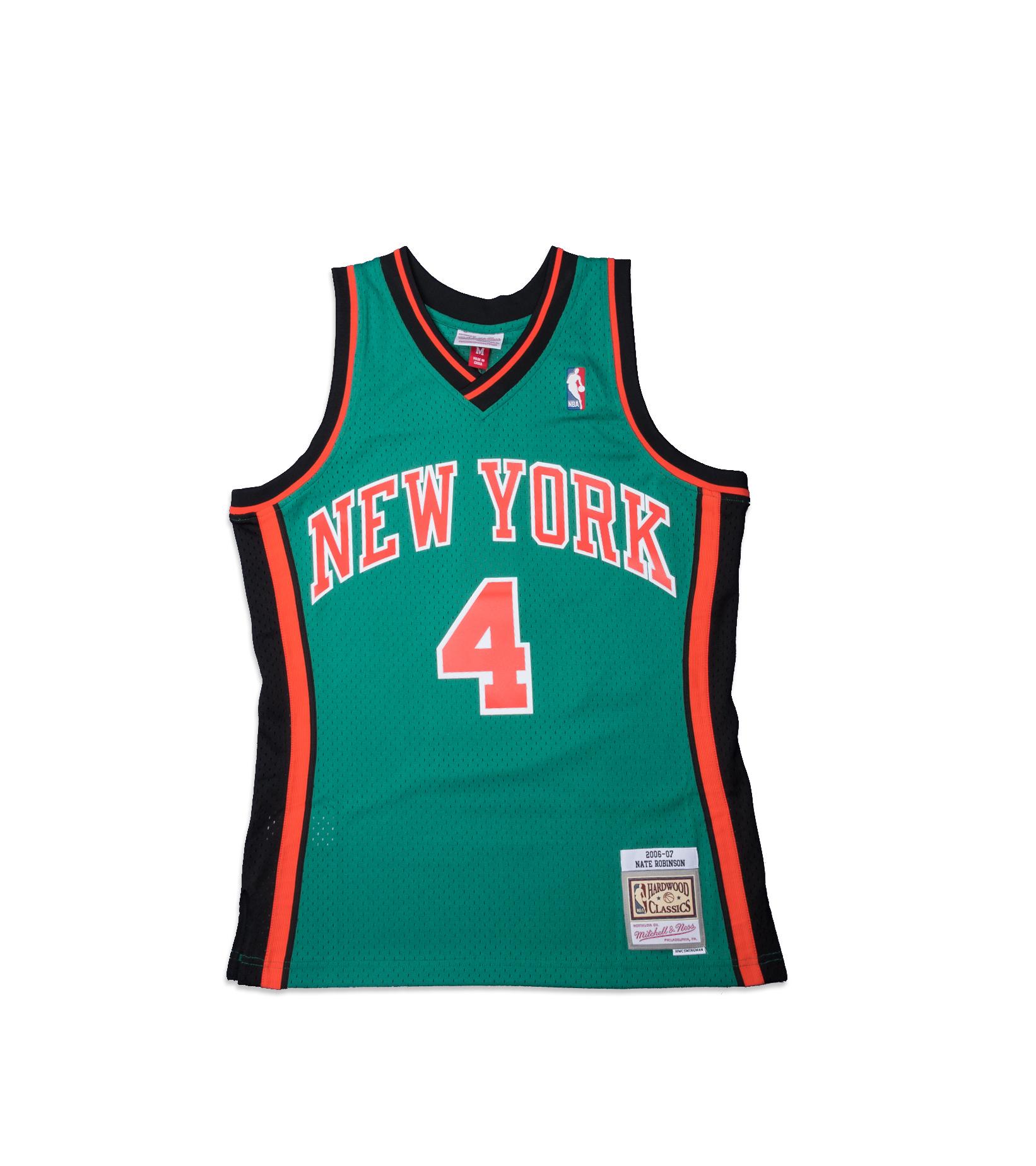"NY Knicks '06-'07 N. Robinson Swingman Jersey ""Kelly Green""-1"