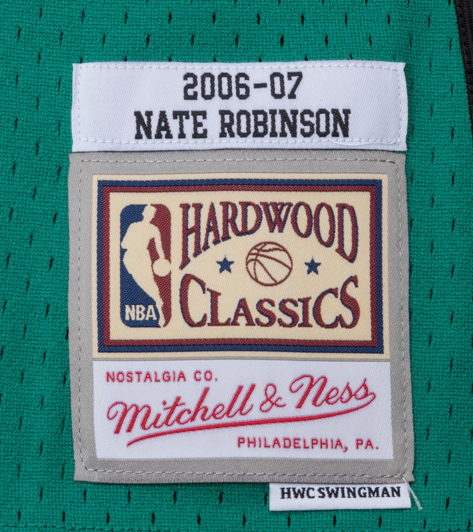 "NY Knicks '06-'07 N. Robinson Swingman Jersey ""Kelly Green""-3"