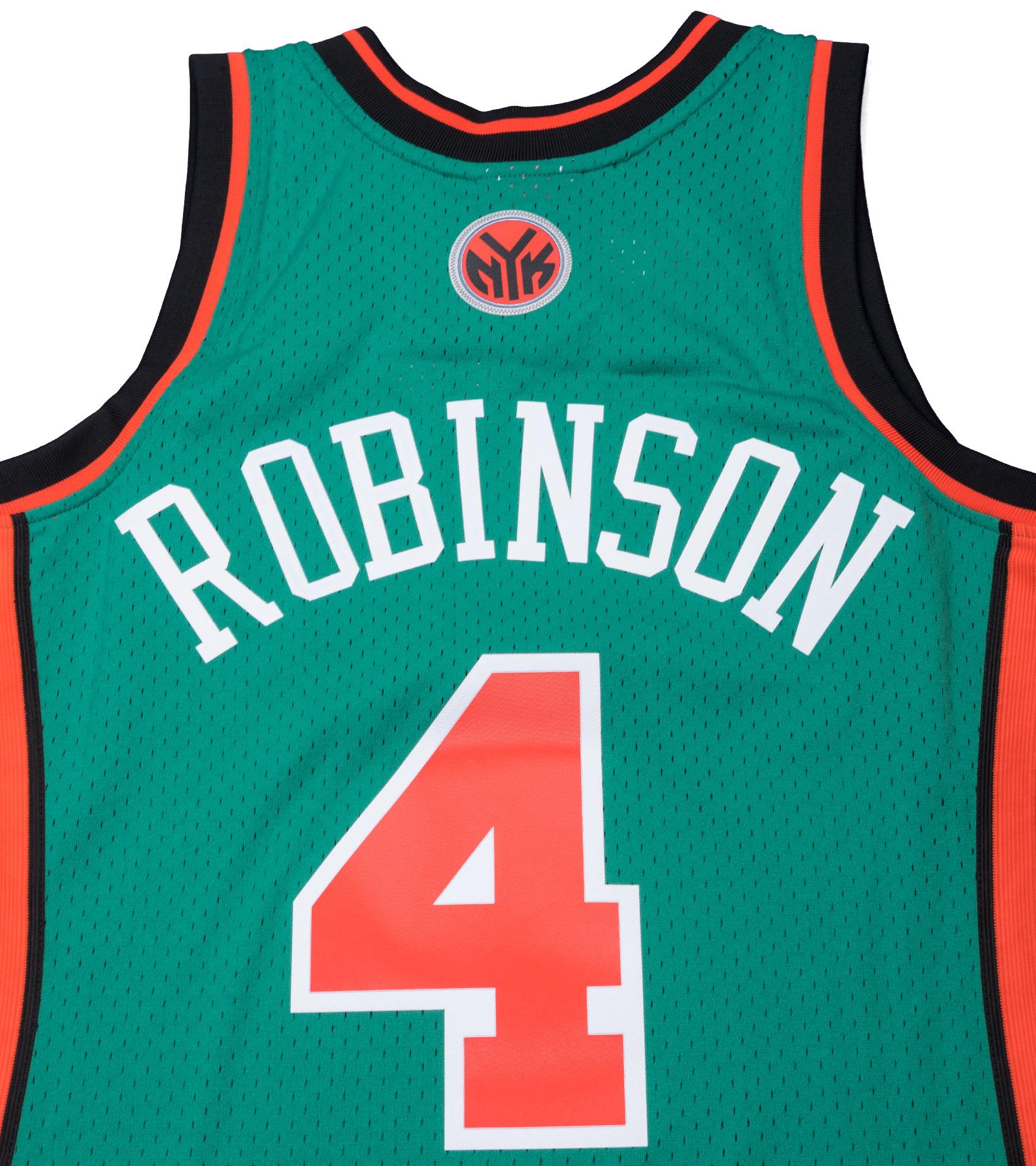 "NY Knicks '06-'07 N. Robinson Swingman Jersey ""Kelly Green""-5"