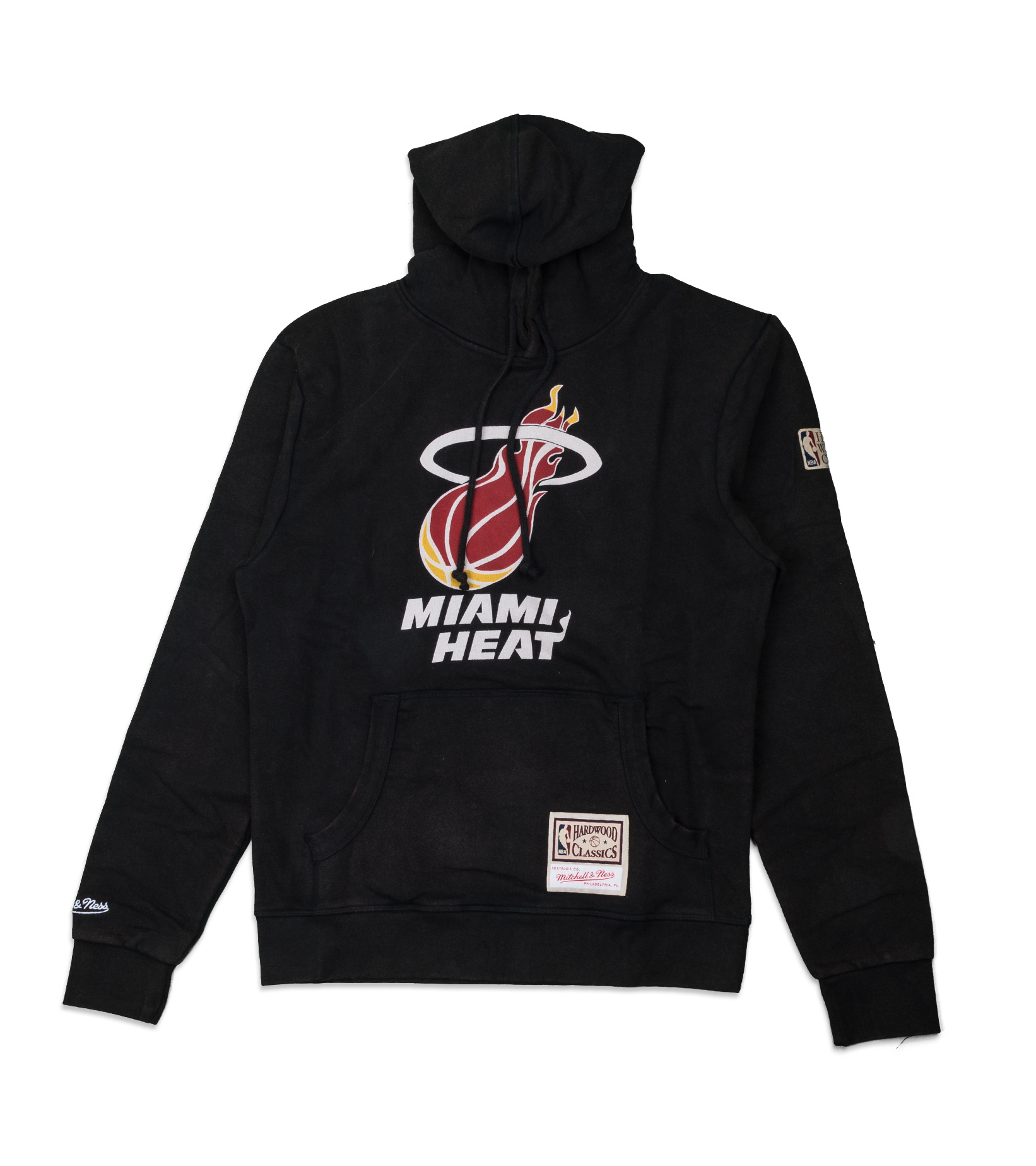 "Miami Heat Worn Logo Hoodie ""Black""-1"