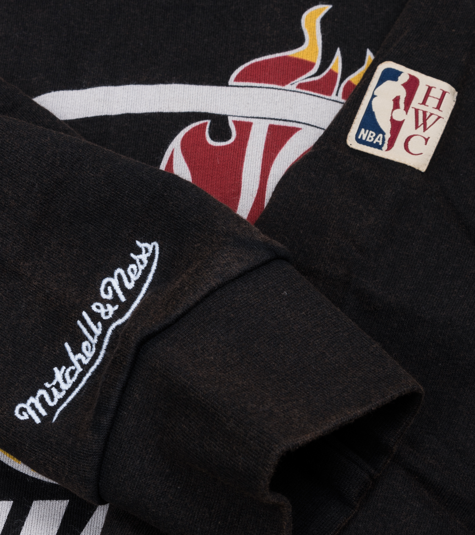 "Miami Heat Worn Logo Hoodie ""Black""-4"