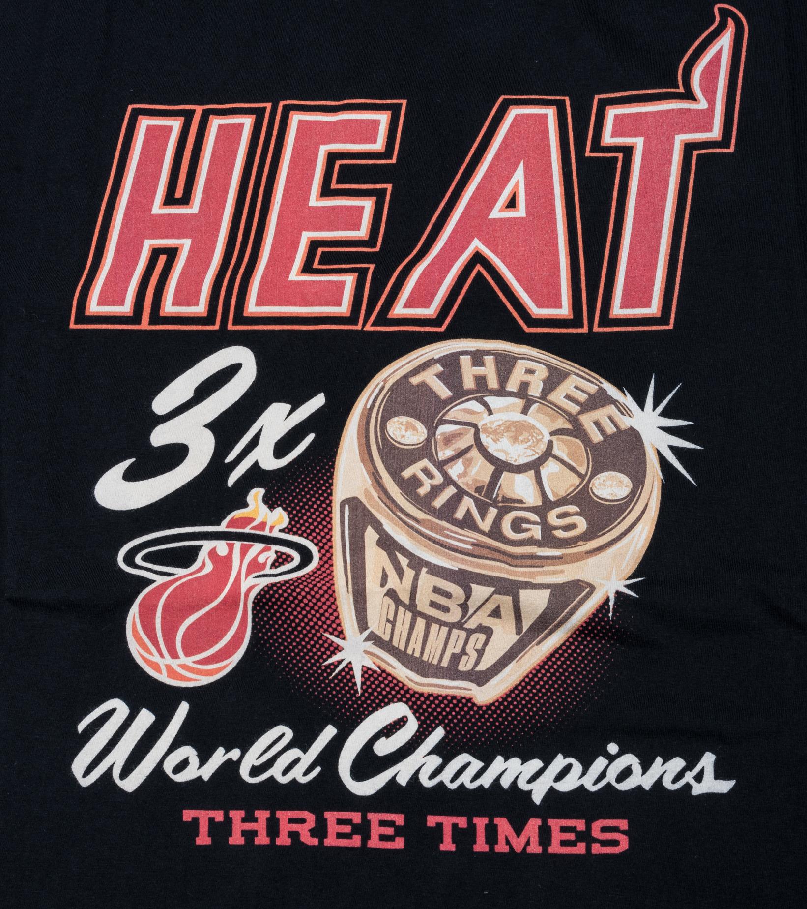 "Miami Heat Champions Print Tee ""Black""-2"