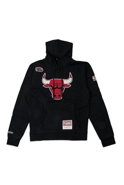 "Chicago Bulls Worn Logo Hoodie ""Black"""