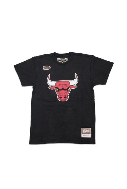 "Chicago Bulls Worn Logo Tee ""Black"""