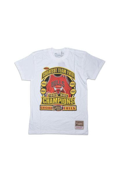 """Chicago Bulls Champions Print Tee """"White"""""""
