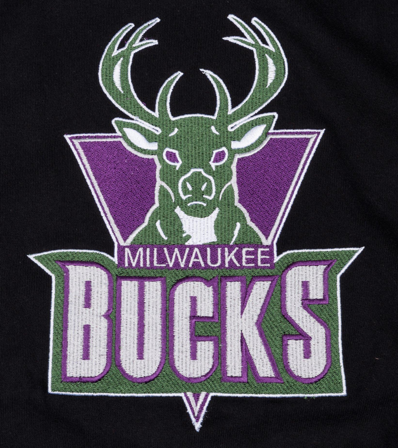 """Milwaukee Bucks Embroidered Sweatshirt """"Black""""-2"""