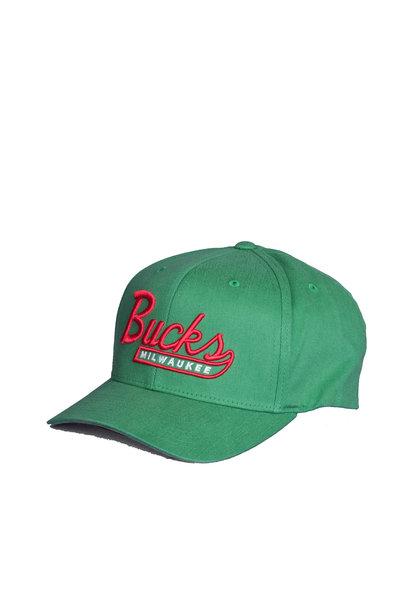 "Milwaukee Bucks Vintage Tailscript 110 Cap ""Green"""