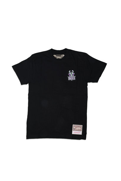 "Milwaukee Bucks Embroidered Logo Tee ""Black"""