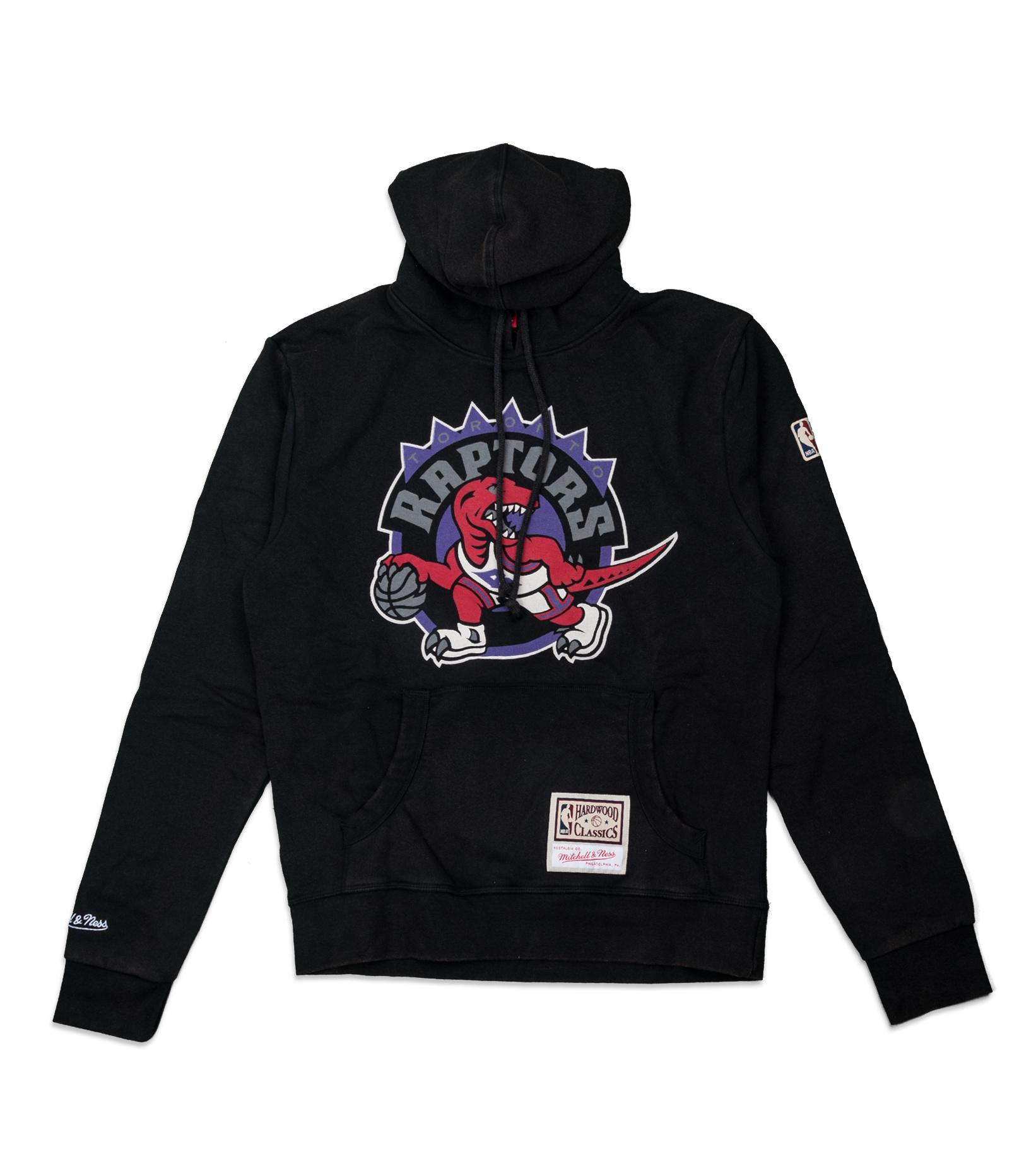 """Toronto Raptors Worn Logo Hoodie """"Black""""-1"""