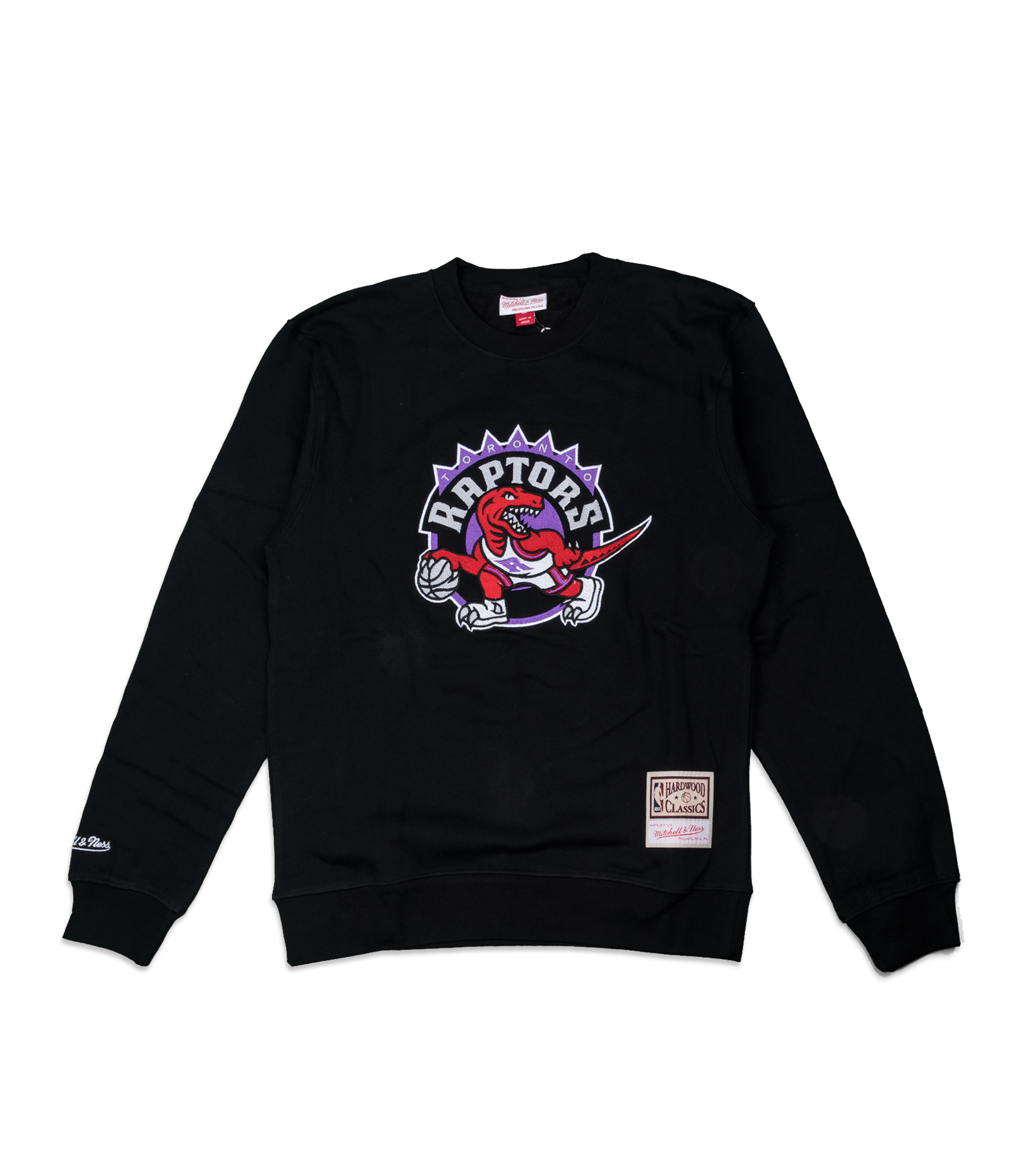 "Toronto Raptors Embroidered Logo Sweatshirt""Black""-1"