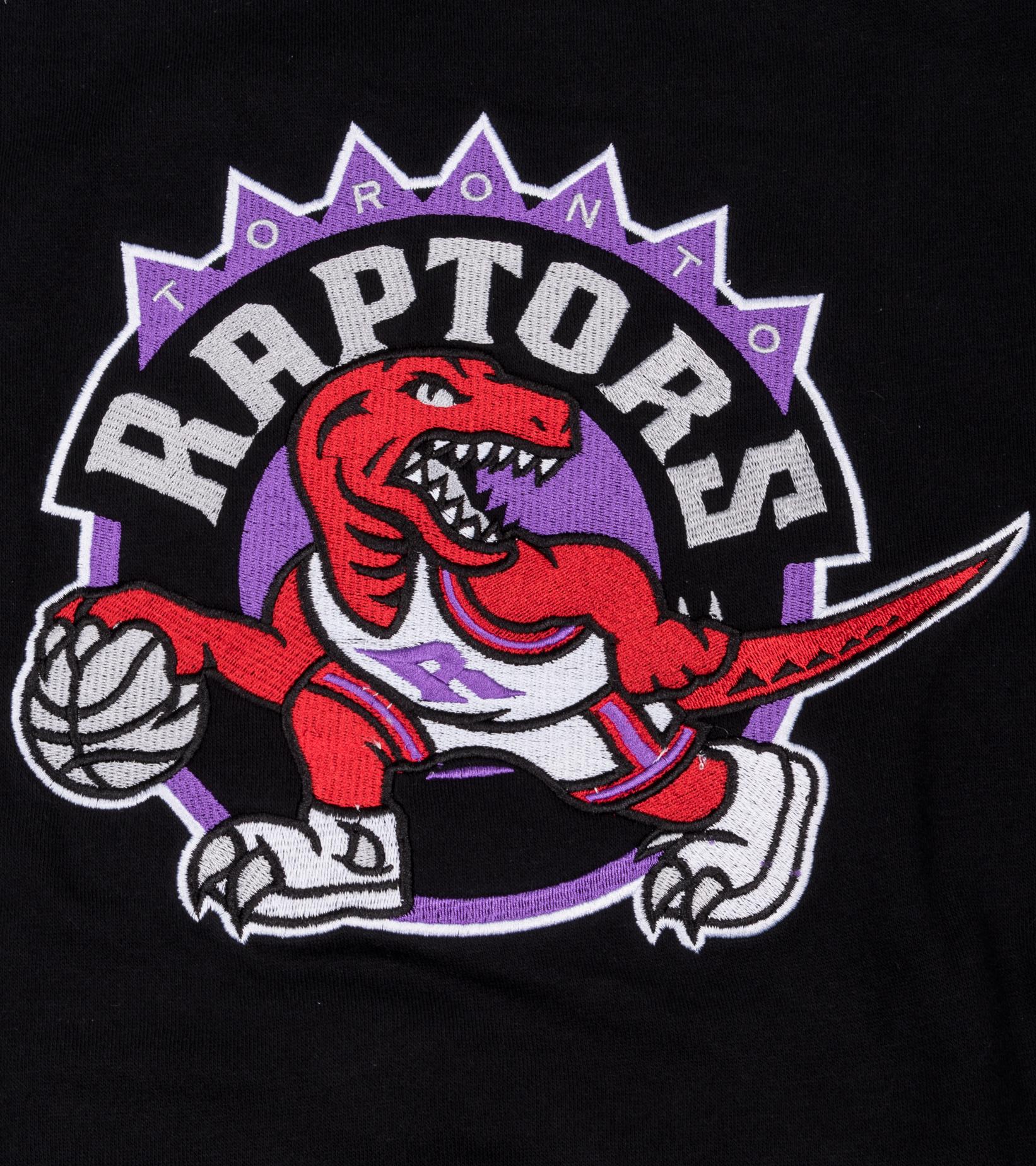 "Toronto Raptors Embroidered Logo Sweatshirt""Black""-2"