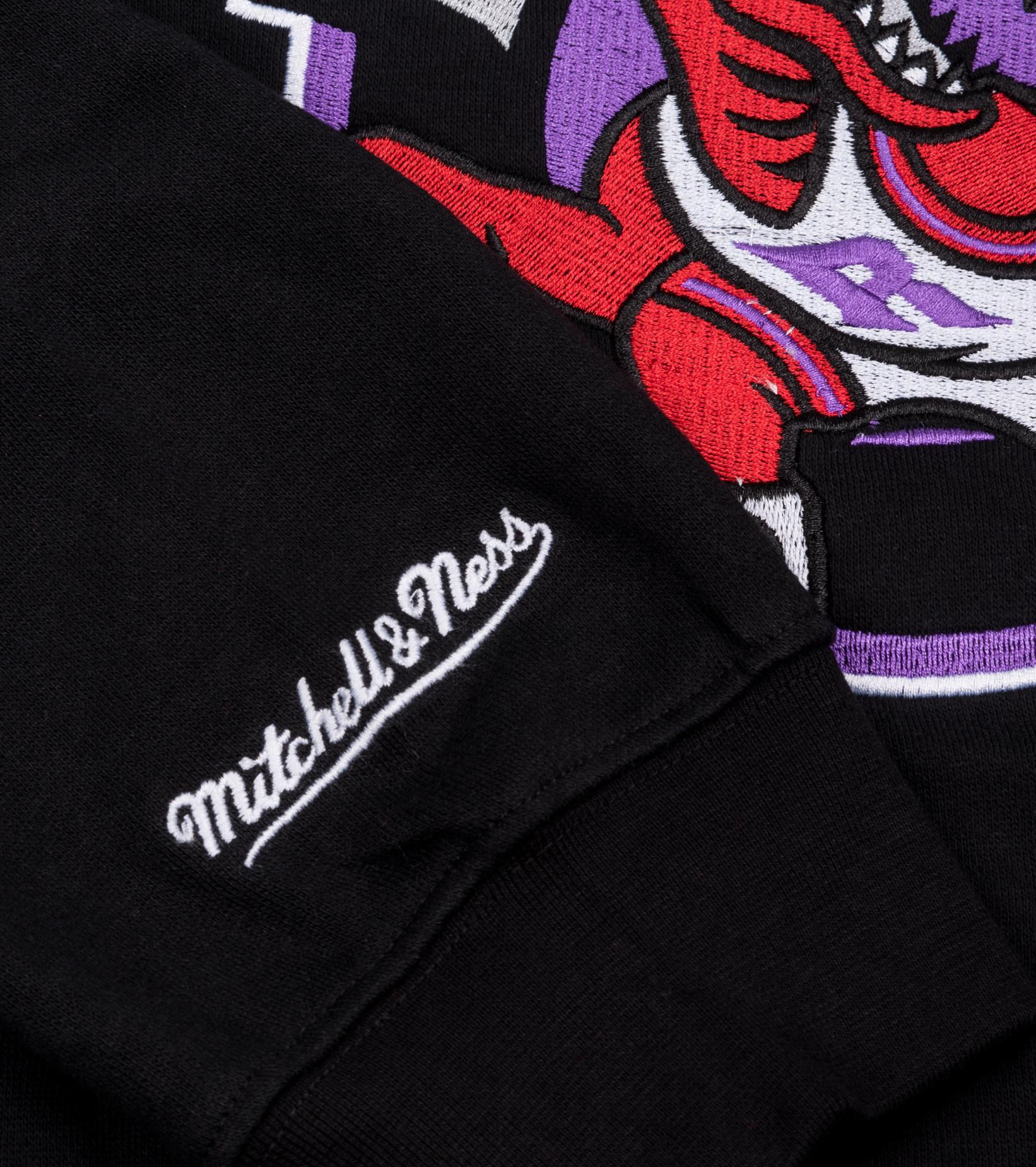 "Toronto Raptors Embroidered Logo Sweatshirt""Black""-4"