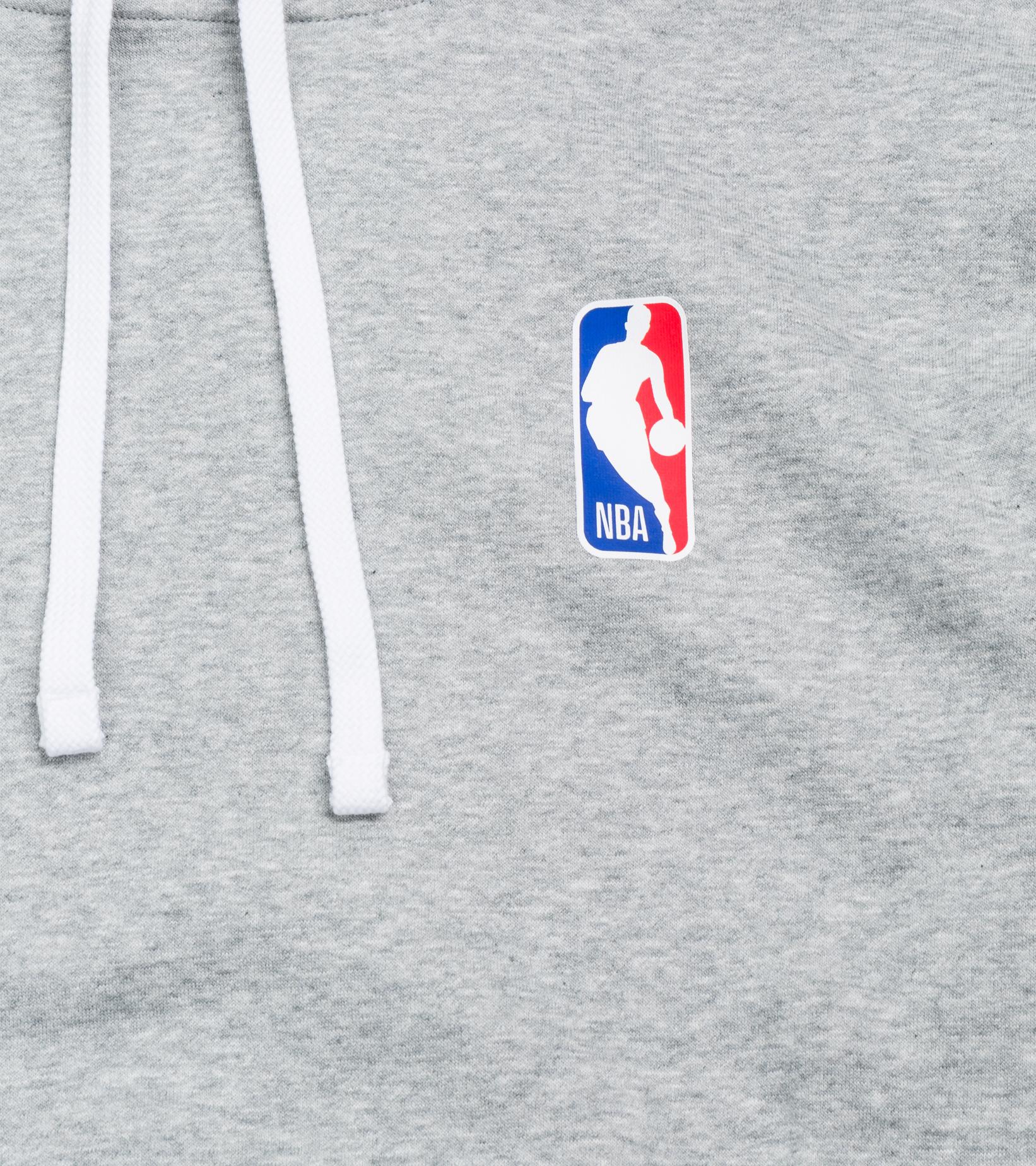 "NBA Logo Essential Hoodie ""Dark Grey Heather""-2"