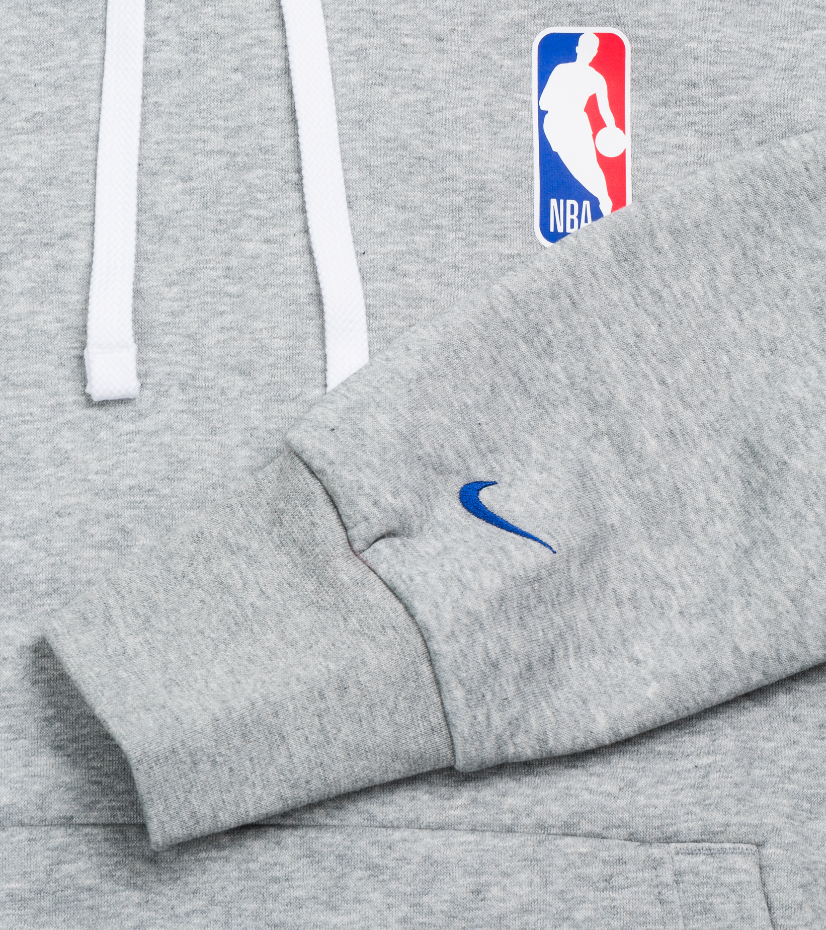 "NBA Logo Essential Hoodie ""Dark Grey Heather""-3"