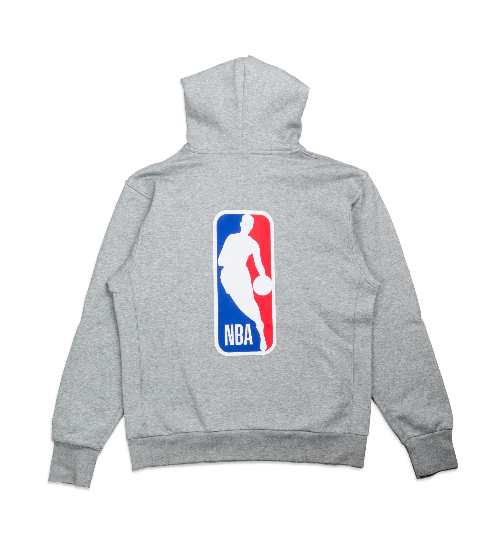 "NBA Logo Essential Hoodie ""Dark Grey Heather""-4"