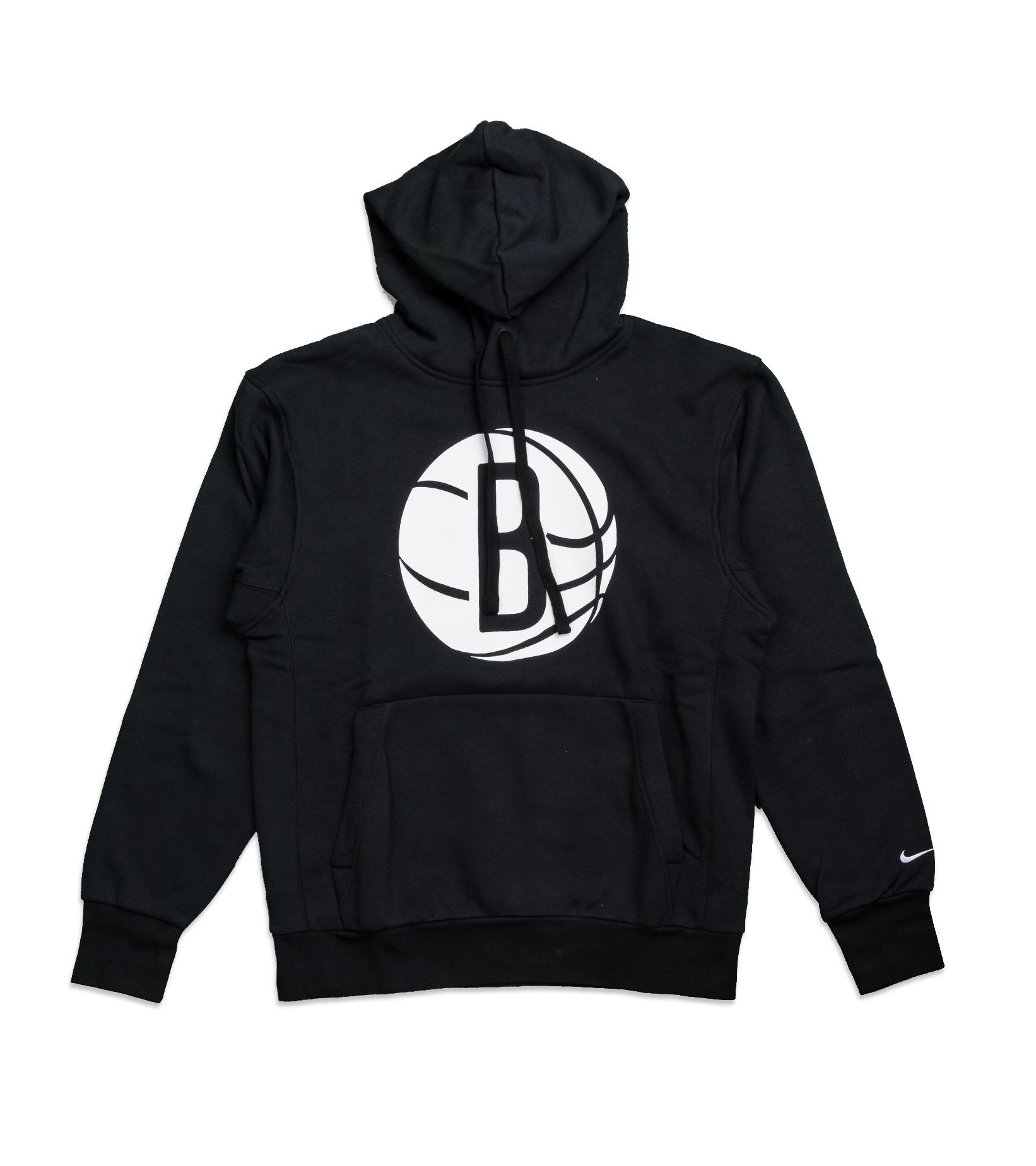 "Brooklyn Nets Logo Essential Hoodie ""Black/White""-1"