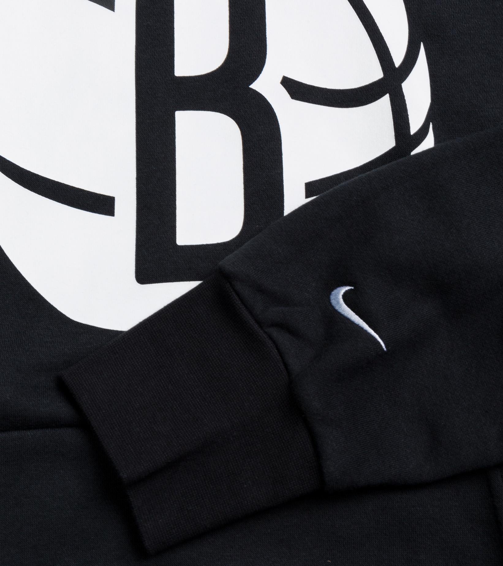 "Brooklyn Nets Logo Essential Hoodie ""Black/White""-3"