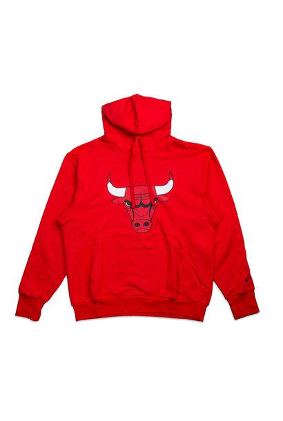 "Chicago Bulls Logo Essential Hoodie ""University Red/Black"""