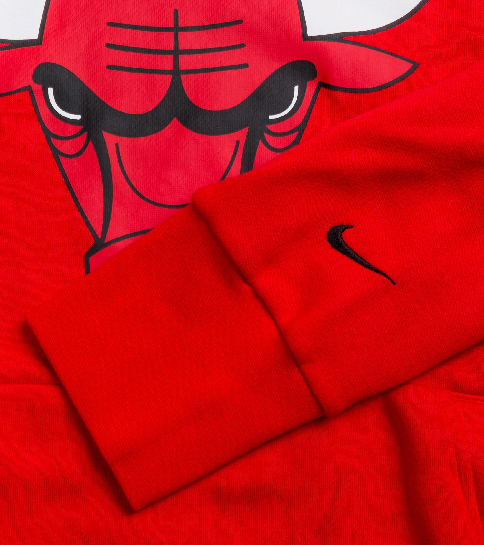 "Chicago Bulls Logo Essential Hoodie ""University Red/Black""-3"