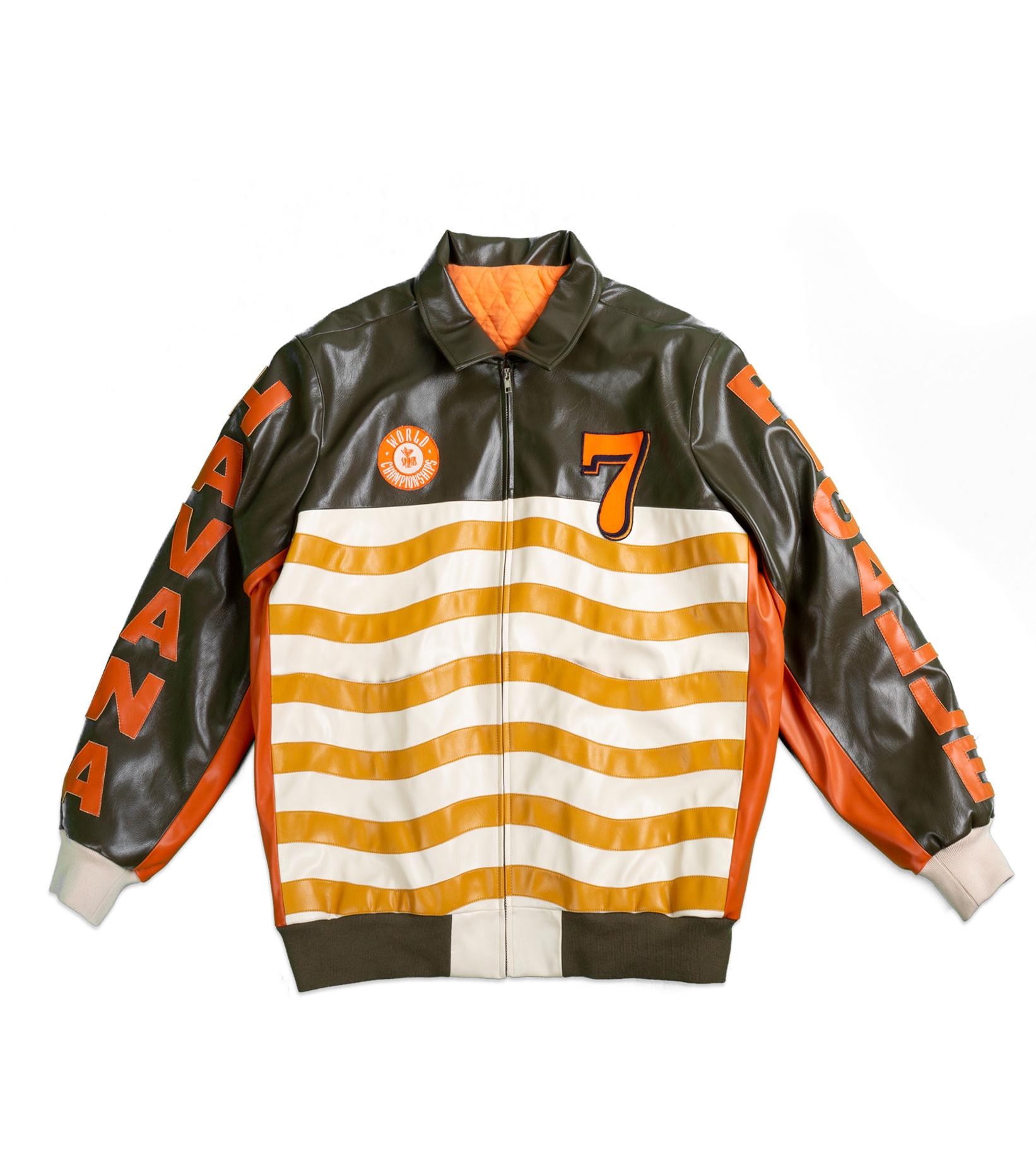 "Leather Jacket x Pigalle ""Brown/Orange""-1"