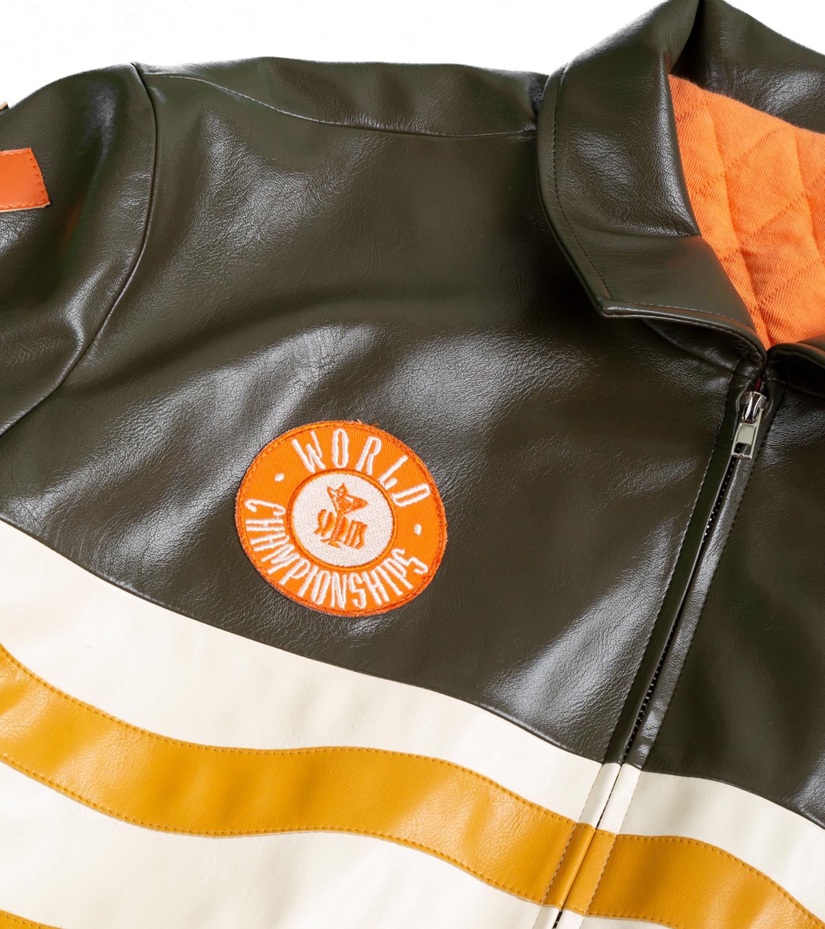 "Leather Jacket x Pigalle ""Brown/Orange""-2"