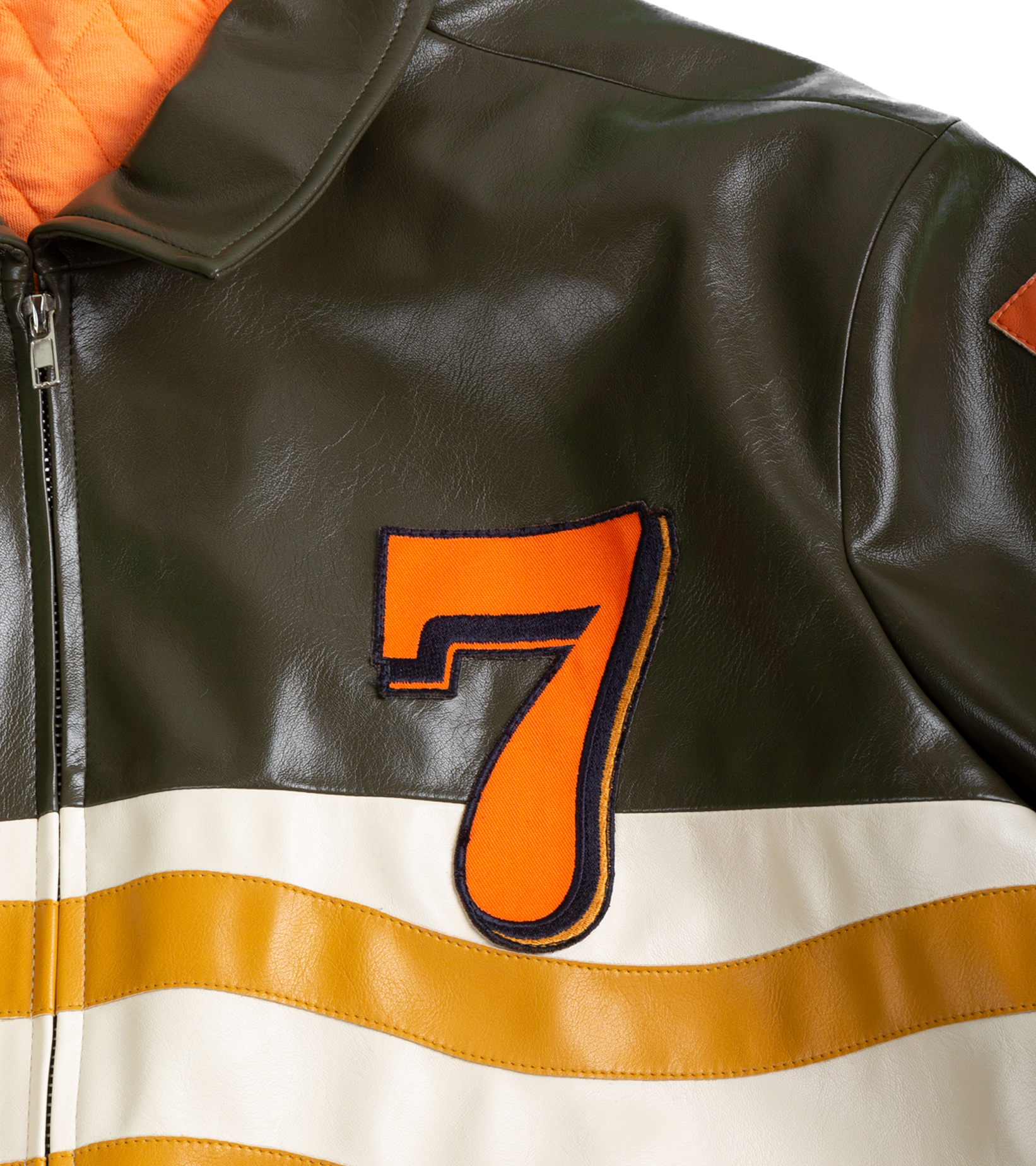 "Leather Jacket x Pigalle ""Brown/Orange""-3"