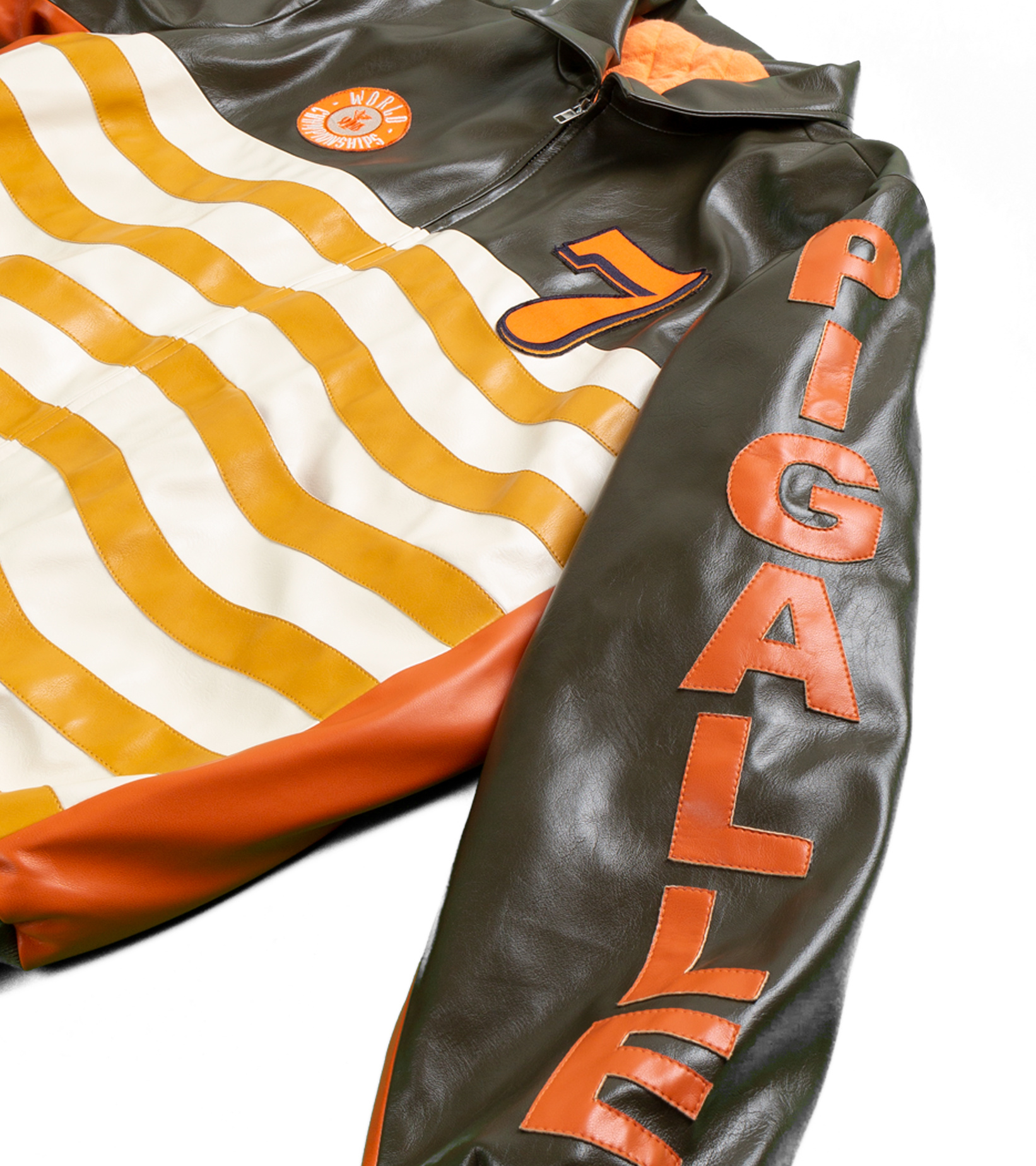 "Leather Jacket x Pigalle ""Brown/Orange""-4"