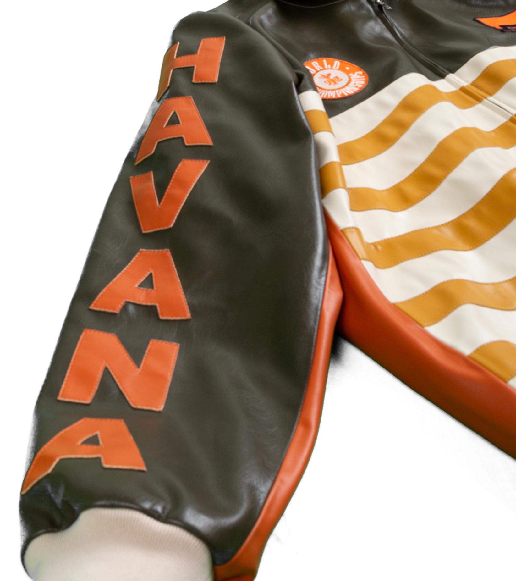 "Leather Jacket x Pigalle ""Brown/Orange""-5"