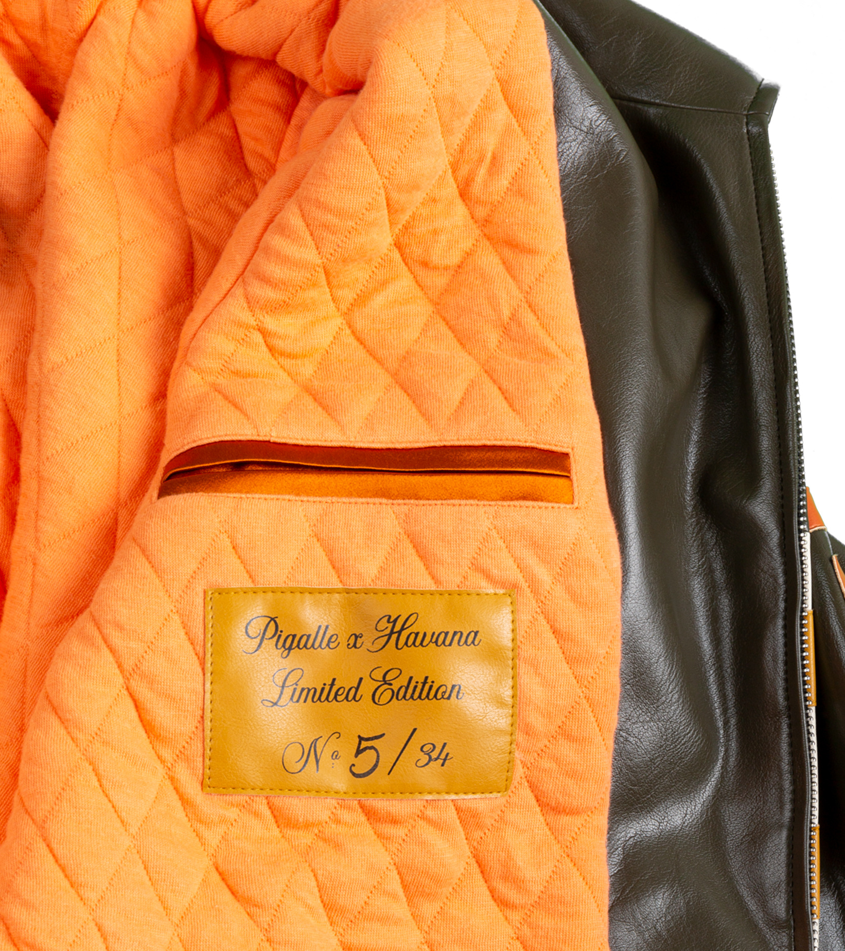 "Leather Jacket x Pigalle ""Brown/Orange""-6"