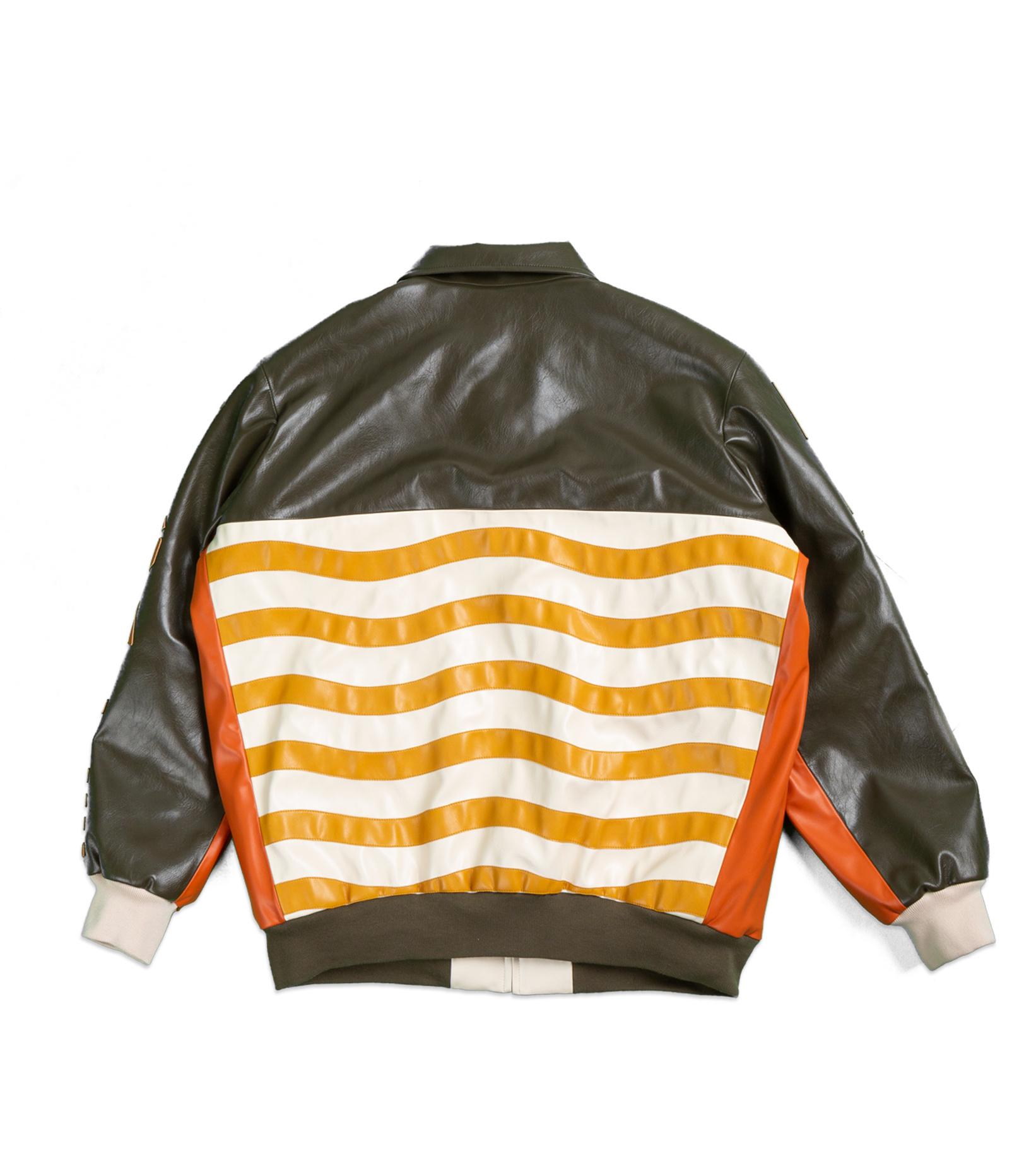"Leather Jacket x Pigalle ""Brown/Orange""-7"