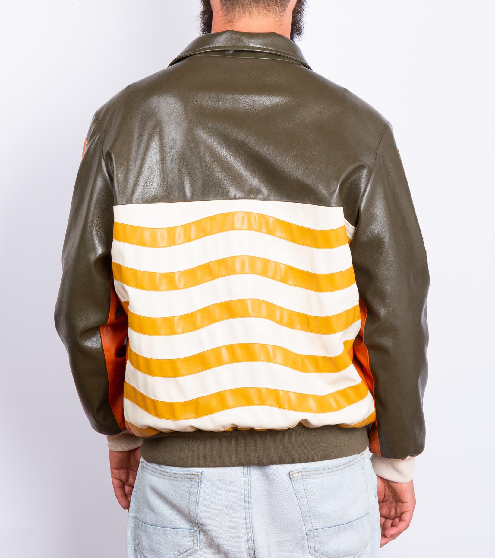 "Leather Jacket x Pigalle ""Brown/Orange""-8"
