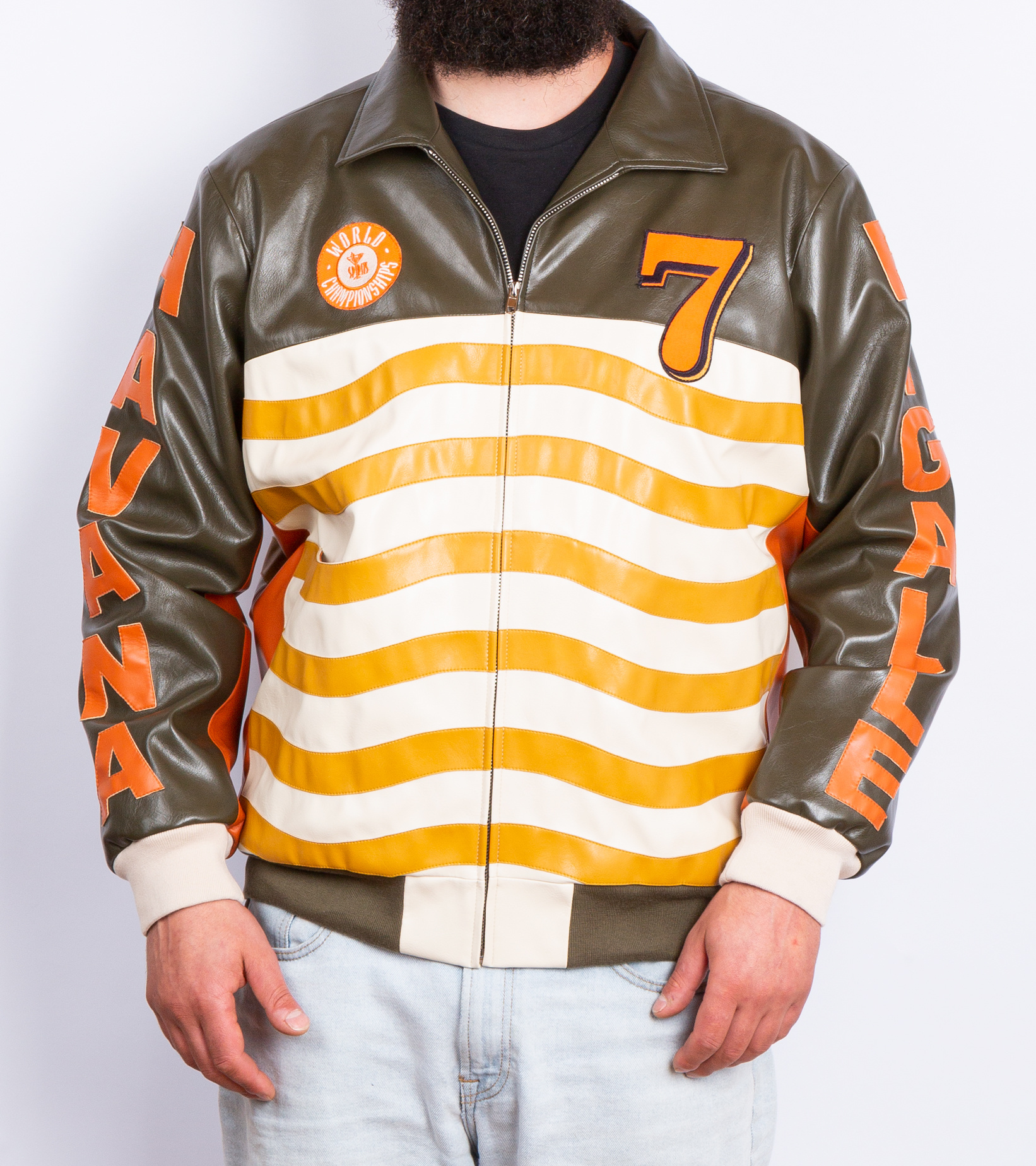"Leather Jacket x Pigalle ""Brown/Orange""-9"