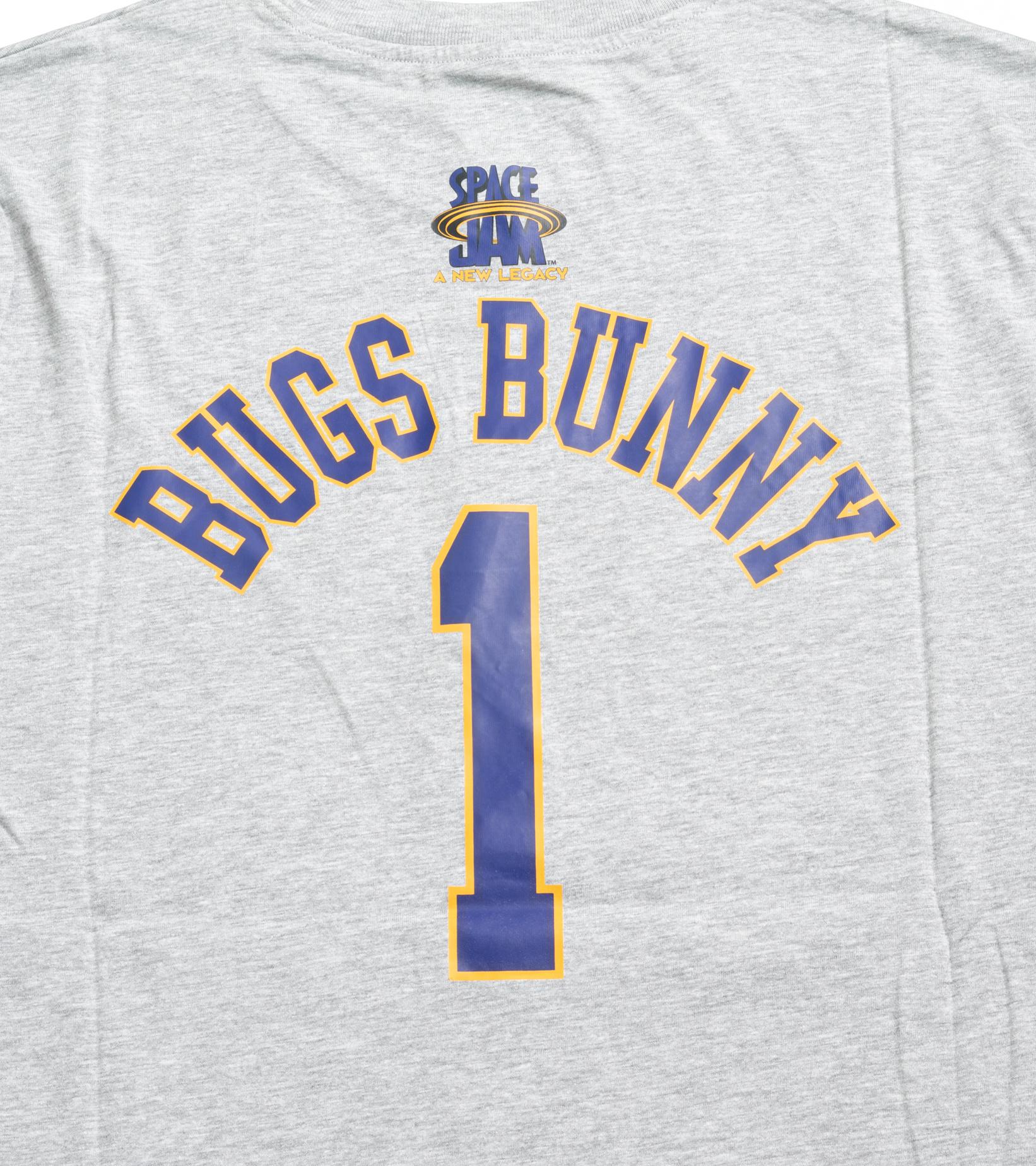 "Space Jam Tune Squad Bugs Bunny Tee (Newborn) ""Heather Grey""-4"