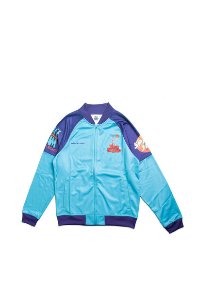 """Game Changer Space Jam 2 Full-Zip Jacket (Youth) """"Teal/Purple"""""""