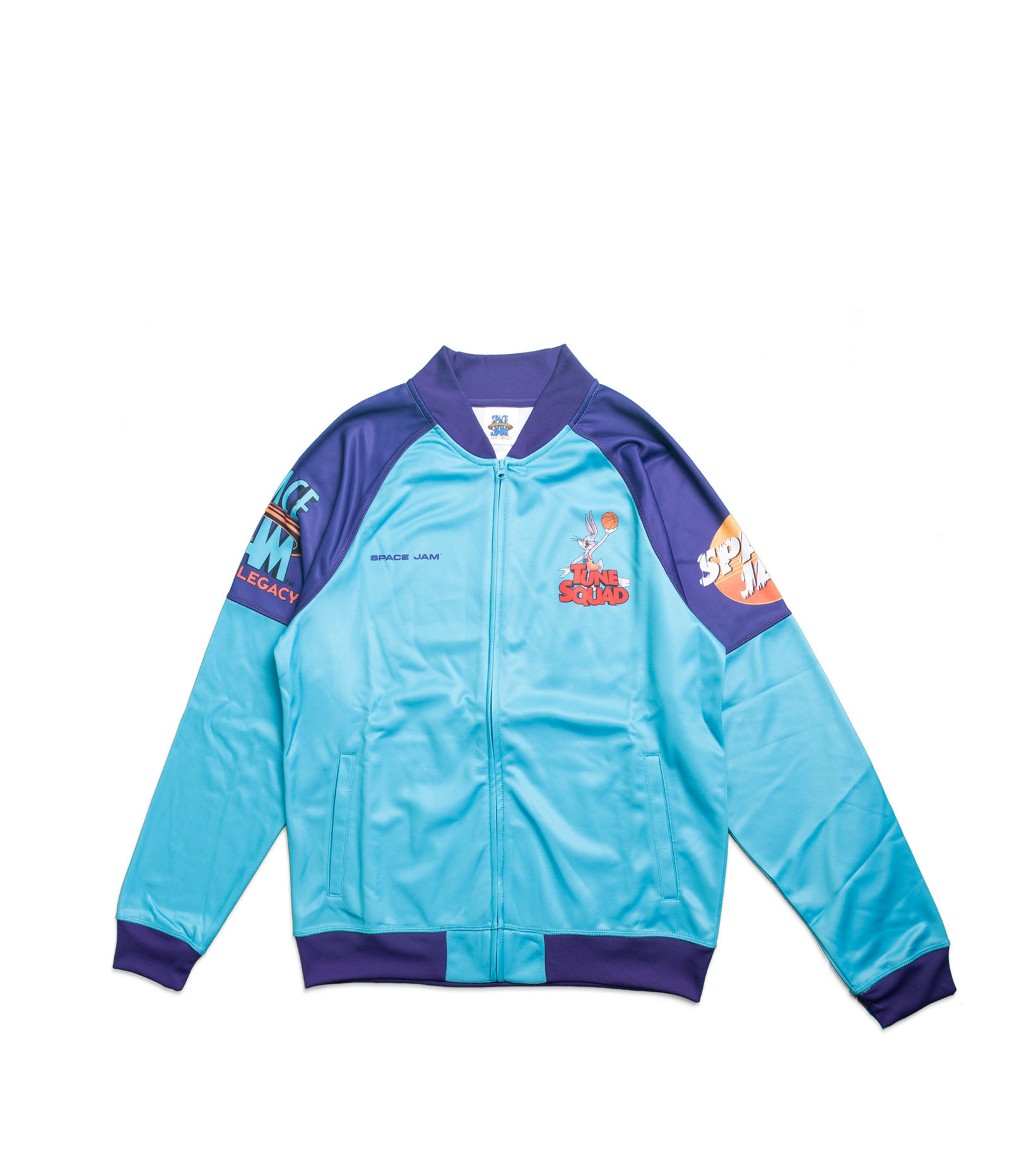 """Game Changer Space Jam 2 Full-Zip Jacket (Youth) """"Teal/Purple""""-1"""